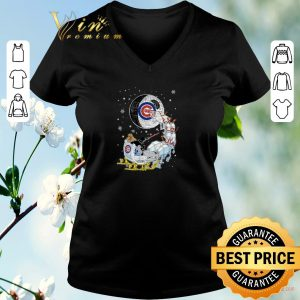Nice Darth Vader Chicago cubs riding sleigh to the Death Star shirt sweater