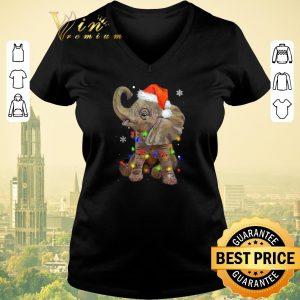 Nice Elephant santa Christmas light shirt sweater