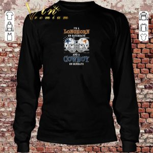 Nice I'm a Texas Longhorns on saturdays and a Dallas Cowboys on sundays shirt sweater 2019