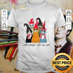 Nice Just Hangin with cats Christmas shirt