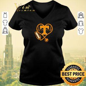 Nice Love Tennessee Volunteers Stethoscope Heartbeat nurse shirt sweater