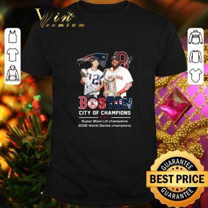 Nice Patriots Boston City of champions Super Bowl LIII champions shirt