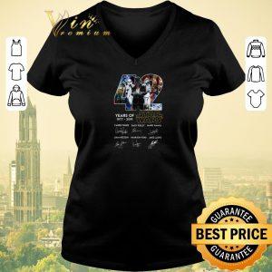 Nice Signatures Darth Vader 42 Years of Star Wars 1977-2019 shirt
