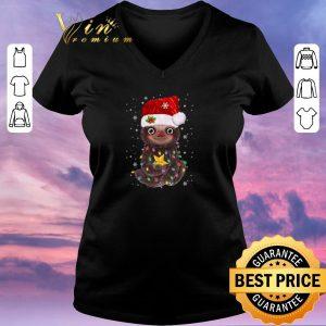 Nice Sloth Santa Christmas Light shirt sweater