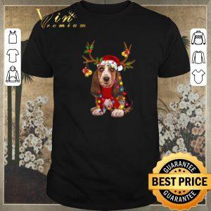 Official Basset Hound santa reindeer Christmas shirt sweater