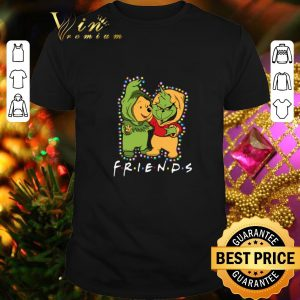 Official Friends Grinch and Pooh Christmas light shirt