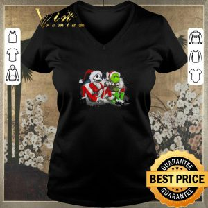Official Merry Christmas Jack Skellington and Grinch shirt