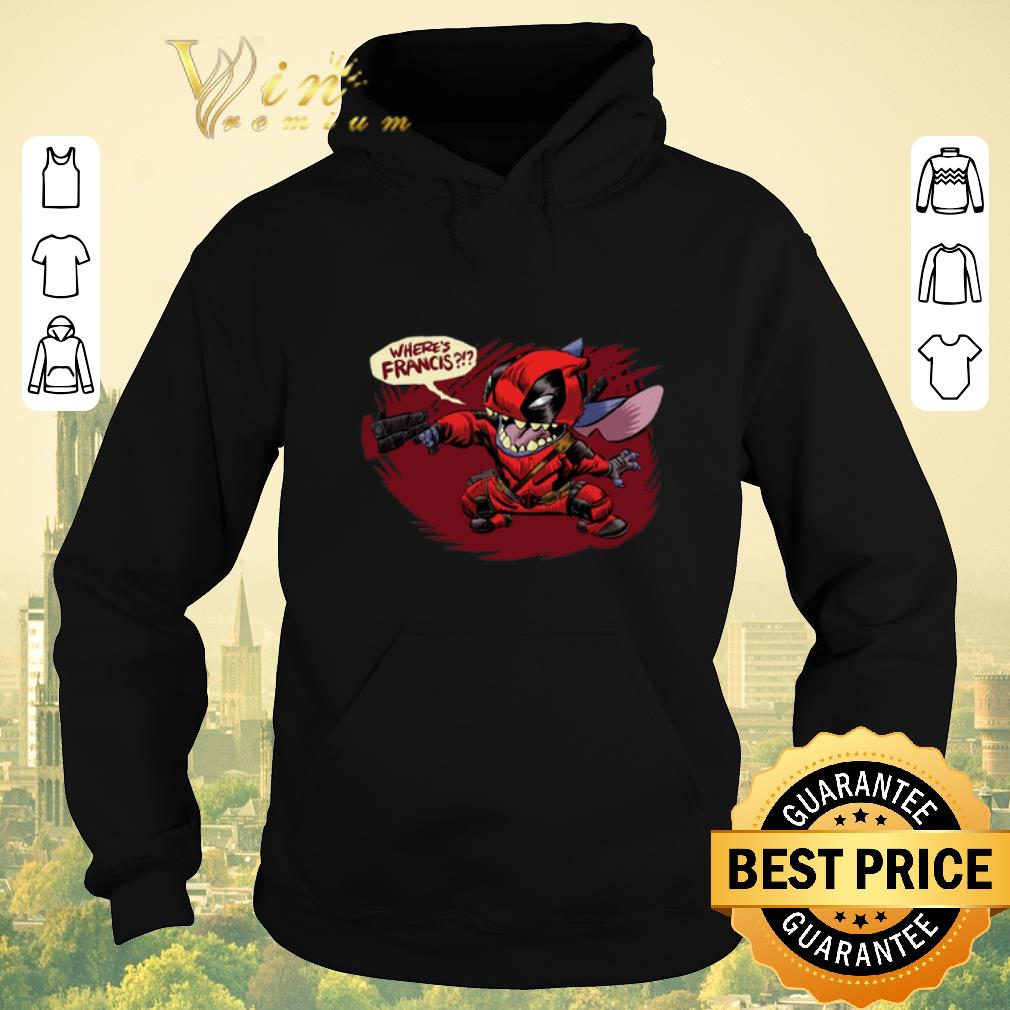 Official Stitch Deadpool where s Francis shirt sweater 4 - Official Stitch Deadpool where's Francis shirt sweater