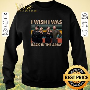 Official Vintage White Christmas I wish i was back in the army shirt 2