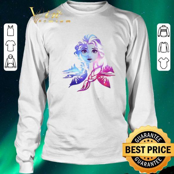 Original Frozen 2 Elsa Two Tone Gradient Portrait shirt sweater