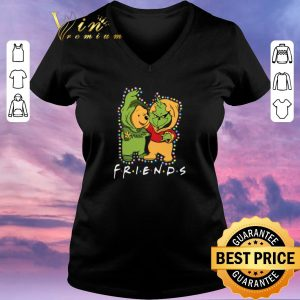 Premium Friends Grinch and Pooh Christmas light shirt sweater
