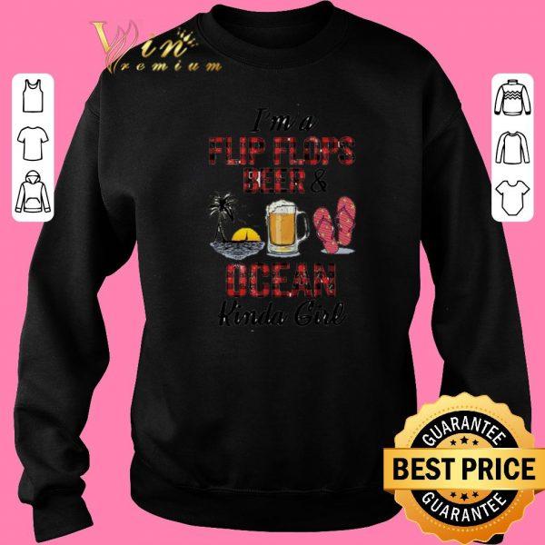 Premium I'm a flip flops beer & ocean kinda girl shirt sweater 2019