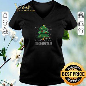Premium Math Geometry Christmas tree oh Geometree teacher shirt sweater 1