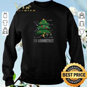 Premium Math Geometry Christmas tree oh Geometree teacher shirt sweater 2