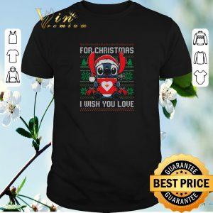 Premium Stitch for Christmas i wish you love shirt sweater