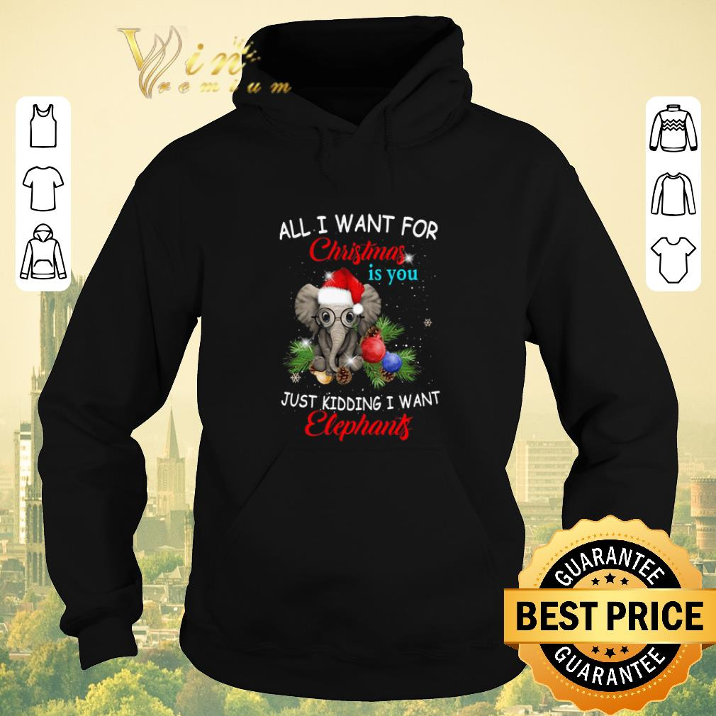 Pretty All i want for Christmas is you just kidding i want elephants shirt sweater 4 - Pretty All i want for Christmas is you just kidding i want elephants shirt sweater
