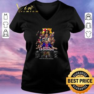 Pretty Barcelona Legends Players thank you for the memories signatures shirt sweater