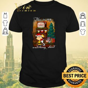 Pretty Charlie Brown Snoopy This is my Hallmark Christmas movie watching shirt sweater