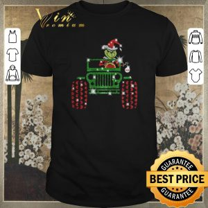 Pretty Grinch driving jeep car Christmas shirt