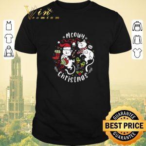 Pretty Meowy Christmas Two Cats shirt