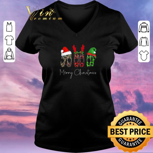 Pretty Merry Christmas Leopard High heels shirt