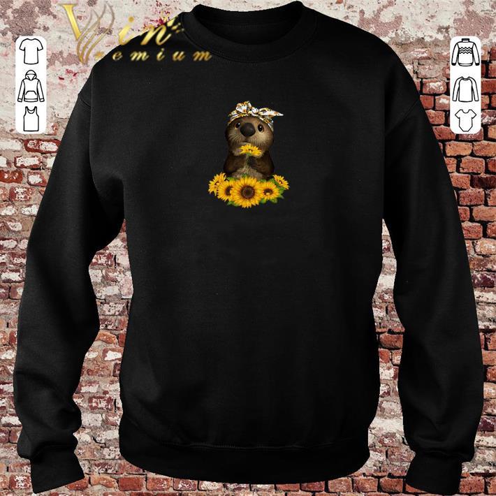 Pretty Otter sunflowers shirt sweater 2019 4 - Pretty Otter sunflowers shirt sweater 2019