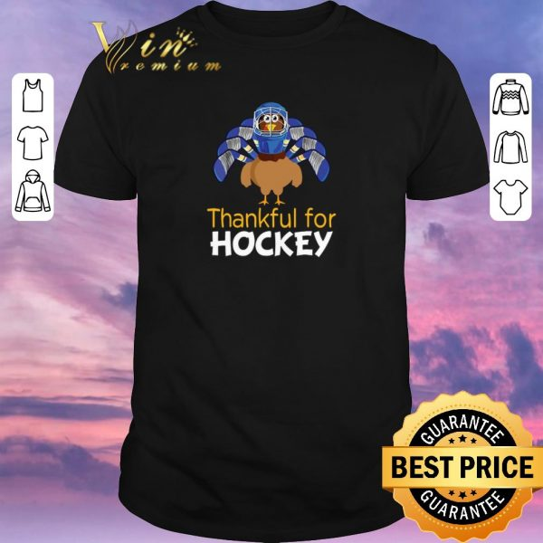 Pretty Turkey Thankful For Hockey Thanksgiving shirt sweater