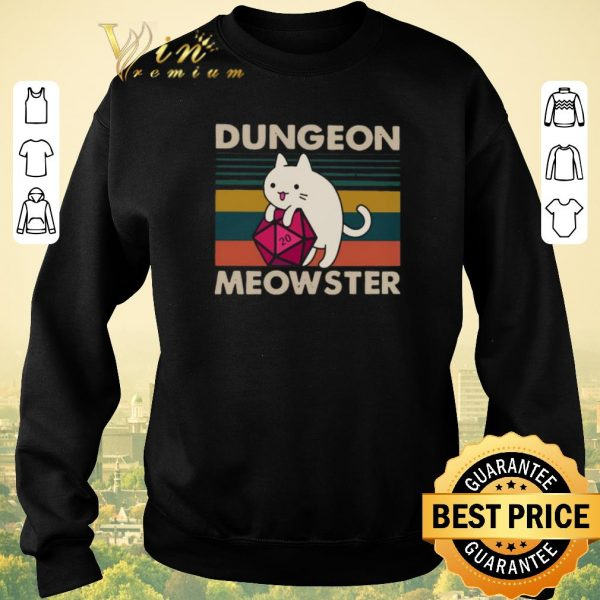 Pretty Vintage Cat Dungeon meowster shirt