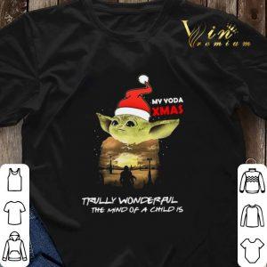 Santa Yoda My Yoda Xmas Trully Wonderful The Mind Of A Child Is shirt sweater 2