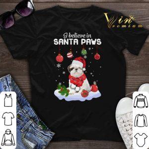 Shih Tzu i believe in Santa paws Christmas shirt