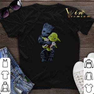 Star Wars Baby Groot Hugging Yoda shirt