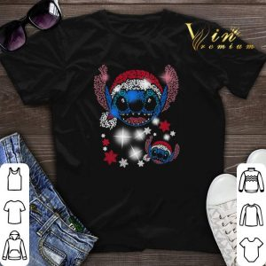 Stitch head Santa hat Christmas shirt sweater