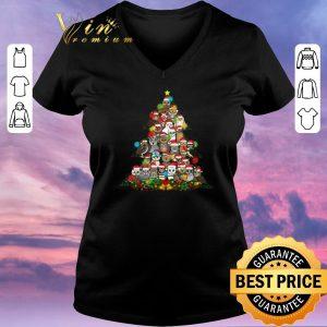 Top Christmas tree Owls shirt