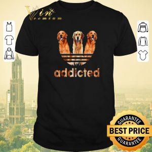 Top Golden Retriever addicted adidas shirt sweater