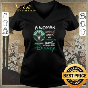 Top Maleficent a woman cannot survive on Starbucks alone Disney shirt sweater