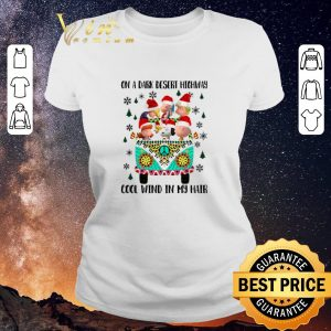 Top Peanuts on a dark desert highway cool wind in my hair Christmas shirt sweater