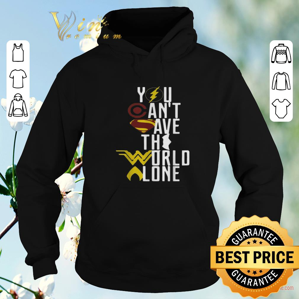 Top Superheroes logo you can t save the world alone shirt sweater 4 - Top Superheroes logo you can't save the world alone shirt sweater