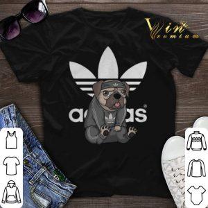 adidas logo pug dog shirt sweater