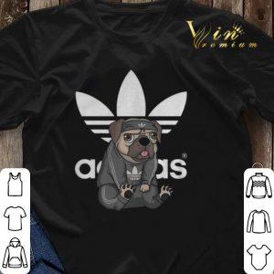 famosa marca de diseñador bien baratas 60% de descuento adidas logo pug dog shirt sweater, hoodie, sweater, longsleeve t-shirt