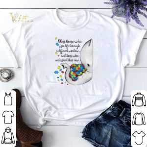 Autism Puzzle elephants bless those who see life through window shirt sweater