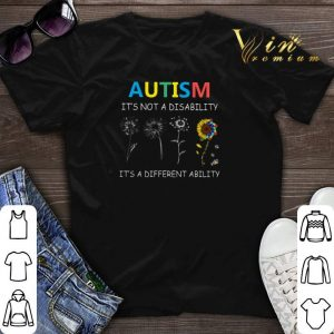 Autism it's not a disability it's a different ability sunflower shirt sweater