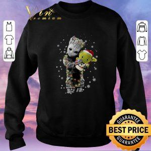 Awesome Baby Groot hugging baby Yoda Christmas shirt sweater 2