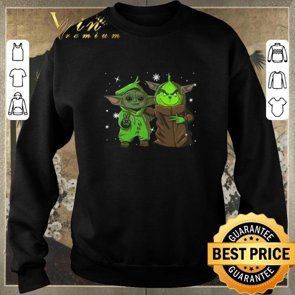 Awesome Baby Yoda and Grinch Christmas shirt sweater