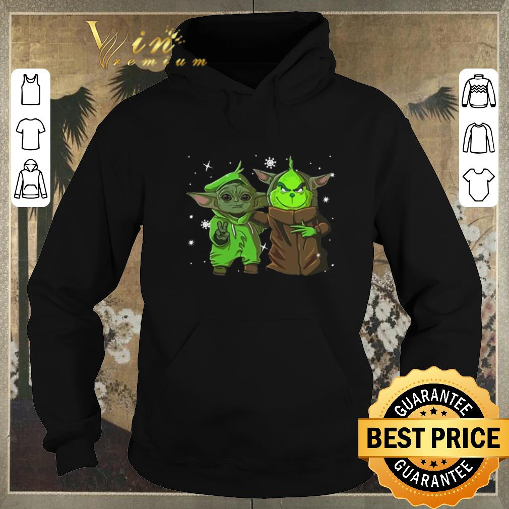 Awesome Baby Yoda and Grinch Christmas shirt sweater 4 - Awesome Baby Yoda and Grinch Christmas shirt sweater