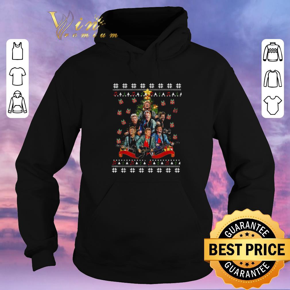 Awesome Bon Jovi Christmas tree ugly sweater 4 - Awesome Bon Jovi Christmas tree ugly sweater
