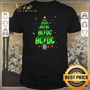 Awesome Christmas tree ACDC Merry Xmas for all shirt