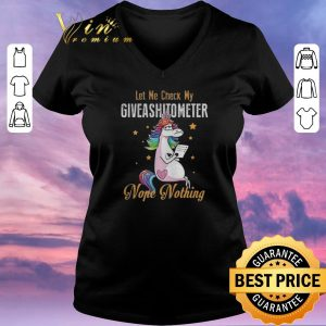Awesome LGBT Unicorn let me check my giveashitometer nope nothing shirt sweater