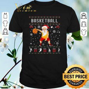 Awesome Ugly Christmas Basketball Santa sweater