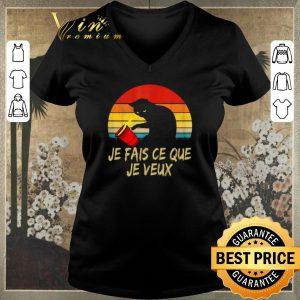 Awesome Vintage Black Cat Je Fais Ce Que Je Veux shirt