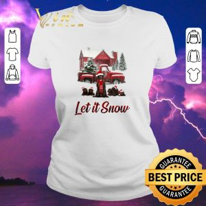 Awesome chocolate labrador let it snow christmas shirt sweater